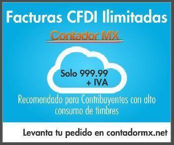 cfdi cmx 999 publicidad