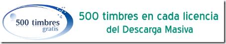 500 timbres gratis