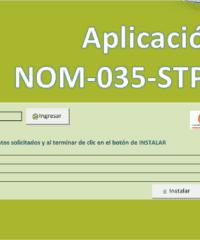 Programa Excel NOM 035 STPS cuestionarios centros de trabajo calificación base de datos